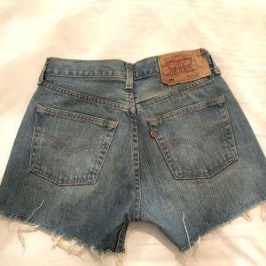 Levis 501 vintage denim shorts, hand studded