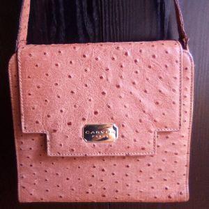 Vintage Carven Paris γυναικεια δερμάτινη τσάντα.