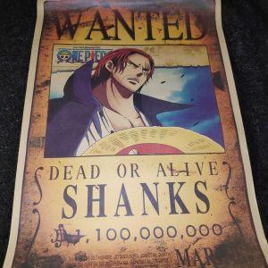 Συλλεκτικη Αφισα Wanted Dead Or Alive Shanks