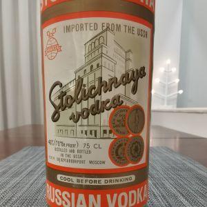Stolichnaya vodka, from USSR (original)