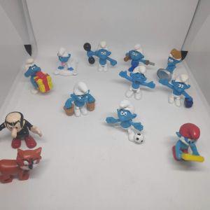 12 Συλλεκτικες Γνησιες Φιγουρες Peyo Original Design Smurfs