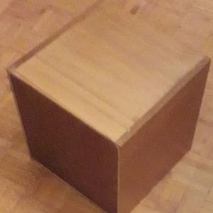 ξύλινος κύβος έπιπλο αποθήκευσης ΔΙΣΚΩΝ ΒΙΝΥΛΙΟΥ LP