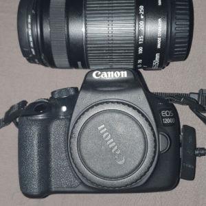 camera canon eos 1200d+ Φακός cannon 55-250+ card sd 64gb