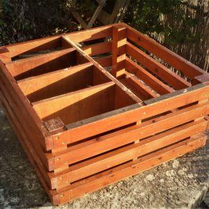 Κουτί Ξύλινο (Teak & Κόντρα Πλακέ Θαλάσσης), Διαστάσεων 60cm Χ 60cm Χ 30cm, Εξαιρετικά Στιβαρό & Ανθεκτικό