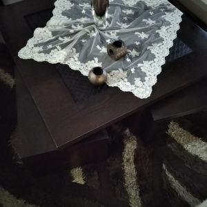 τραπέζι σαλονιού με 2 βοηθητικά τραπεζάκια