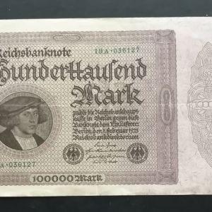 100000 Γερμανικά Μάρκα 1923.