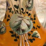 Σπάνιο αντίκα ζευγάρι βάζουν ζωγραφισμένα στο χέρι 30 cm υψος.Τιμή για τα δύο βάζα