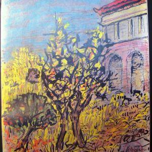 Ν. Χατζηκυριάκος-Γκίκας (1906-1994), Τοπίο στην Ύδρα (1970)