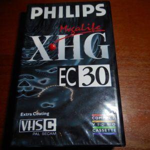 ΒΙΝΤΕΟΚΑΣΕΤΑ   PHILIPS  XHG - EC 30  VHS C MEGALIFE VIDEO COMPACT CASSETTE