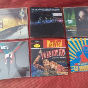 CD singles VERVE, Stero MC's, Daft Punk, Snap, Meat Loaf, Tonino Carotone