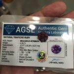 πωλειτε απο συλλεκτη ορυκτων πολυτιμων λιθων , σπανιο 6.50 Ct Natural Pink Trapiche Ruby με το πιστοποιητικό του