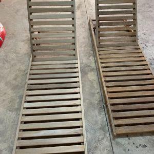 Ξαπλώστρες ξύλινες TEAK