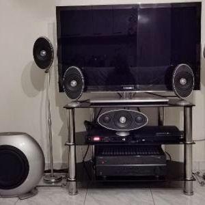 home cinema KEF / ενισχυτής Yamaha / PlayStation 3