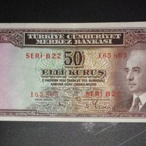 ΤΟΥΡΚΊΑ 50 Kurus 1930 AU
