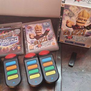 Buzz Παγκόσμιο και Μουσικο Quiz - 4 Ασύρματα Buzzers PS3