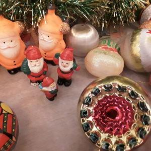 Χριστουγεννιάτικα Διακοσμητικά 55τεμαχια, vintage 80s. Δωρο ένα χριστουγεννιάτικο δέντρο.