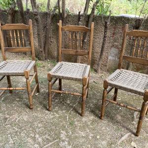 Καρέκλες τραπεζαρίας γερές 1970