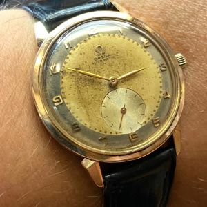Omega gold 750 automatic vintage 1950s