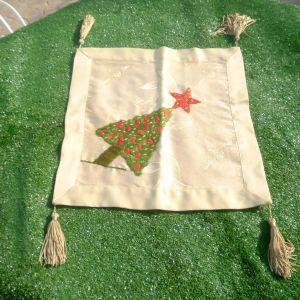 Πετσετάκι χριστουγεννιάτικο χειροποίητο, τετράγωνο