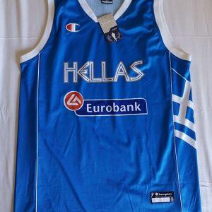 Φανέλα Eurobasket εθνικής Ελλάδας μπάσκετ, Champion, μέγεθος XXL
