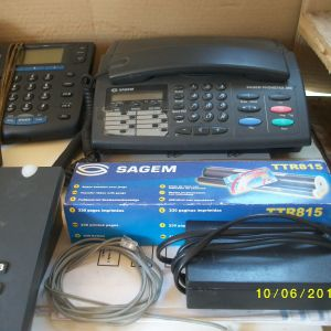 τηλεφωνα  σταθερα ενσυρματα,13 τεμ και 1 FAX,εξαρτηματα,συνολικα τεμ.14,για ολα μαζι=