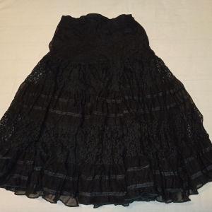 Vintage δαντελένια φούστα midi