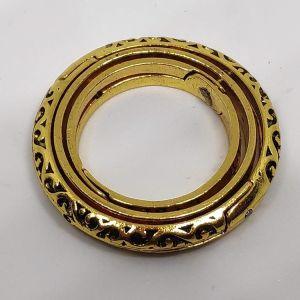 Ατσαλινο Αστρονομικο Δαχτυλιδι Χρυσου Χρωματος