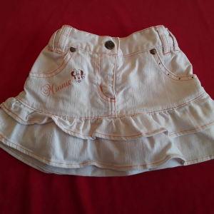 Φούστα τζιν λευκή Disney (3 ετών)
