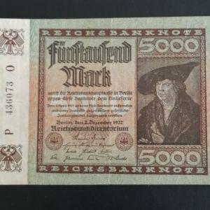 5000 Μάρκα Γερμανίας 1922.