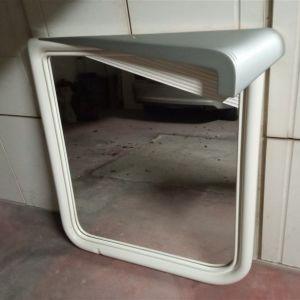 Καθρέφτης διακοσμητικος άσπρη λακα