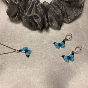 σκουλαρίκια κολιέ σετ πεταλούδες