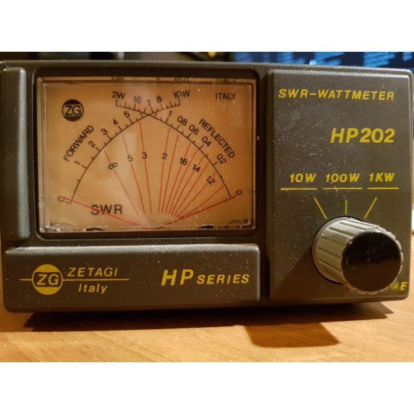 ZETAGI HP202, SWR WATT Meter, vatometro stasimometro gefira