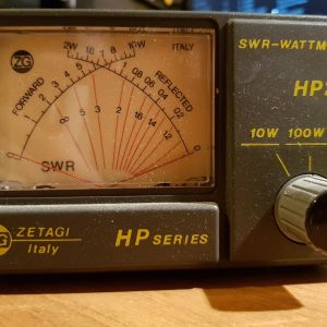 ZETAGI HP202, SWR WATT Meter, βατόμετρο στασιμόμετρο γέφυρα