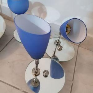 Φωτιστικά μπλε με βάση καθρεφτη