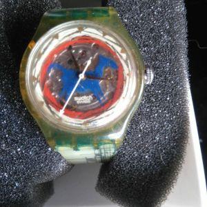 AYTOMATIK ΡΟΛΟΙ ΧΕΙΡΟΣ SWATCH ELBETIKO  ROLOI ME MIXANISMO Swatch 007 Q No Time To Die limited edition