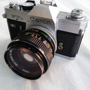 "Canon Ftb ,για φιλμ 135mm, και φακος canon, FD 50MM 1""1,4 S.S.C."