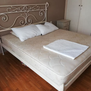 Διπλό κρεβάτι από μασίφ σίδερο