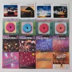 16 CD με ξένα τραγούδια.