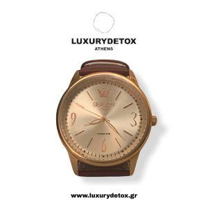 Sale from 40€ - 30€ Season Time Ατσάλινο ρολόι με δερμάτινο λουράκι