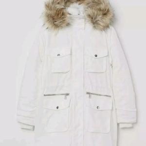 H&M ασπρο παρκα μπουφαν