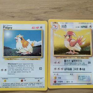 Κάρτες Pokemon Pidgey, Pidgeotto