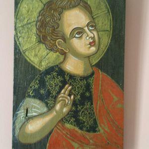 Χειροποίητη βυζαντινή εικόνα σε ξύλο