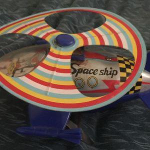 Διαστημικό κουρδιστό ελικοπτερακι (μικτό τσίγκινο πλαστικο)