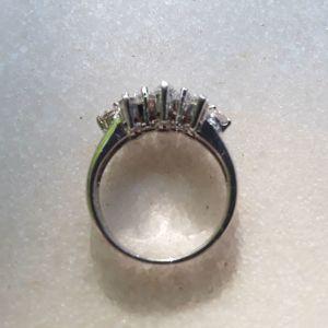 Ασημενιο 925 δαχτυλιδι με λευκα ζιργκον