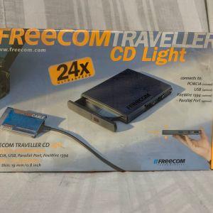 Freecom Traveller CD-24 Light - Disk drive - CD-ROM - 24x - PC Card - external