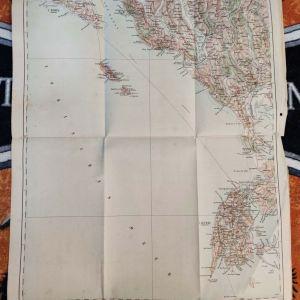 Συλλεκτικός Χάρτης Πρέβεζα του 1912, ιταλική έκδοση, Ήπειρος Preveza Old Italian Map Epirus