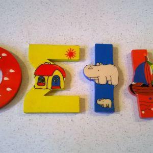 Παιδικά διακοσμητικά ξύλινα γράμματα