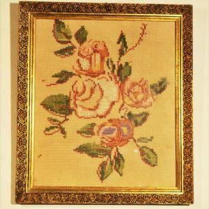 Κάδρο Τριαντάφυλλα Σταυροβελονιά Κέντημα (AP-121)