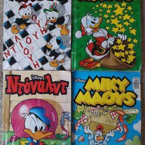 4 Κόμιξ Disney Μίκυ Μάους & Ντόναλντ