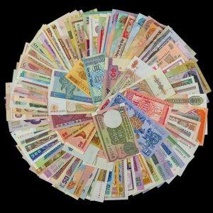 Συλλογή ΛΟΤ 100 Χαρτονομισμάτων από 30 διαφορετικές χώρες
